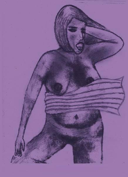 Nipples Drawing - South Beach by John Deeter