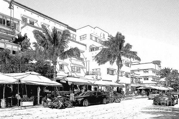 Photograph - South Beach Miami - Art Deco District by Les Palenik