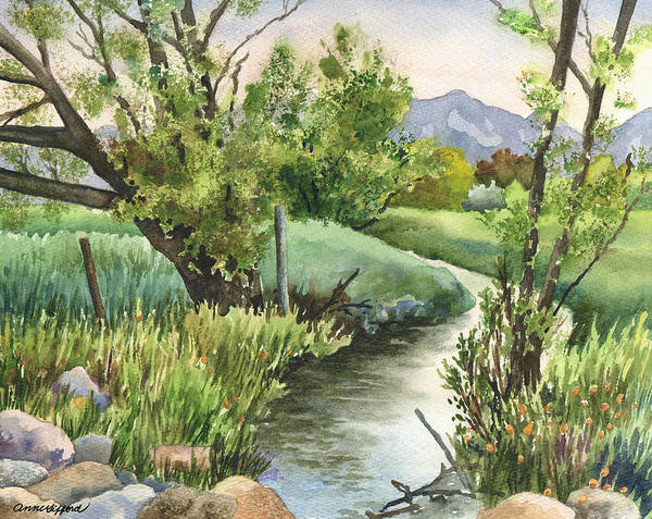 Wall Art - Painting - South Boulder Creek by Anne Gifford