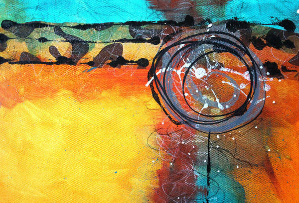 Scribble Painting - South By Southwest by Nancy Merkle