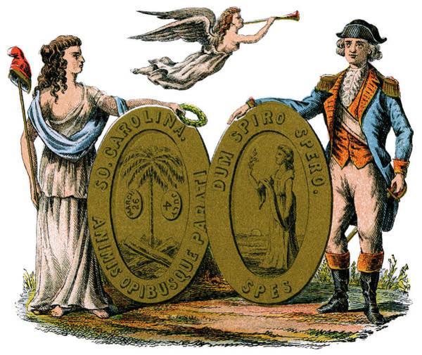Wall Art - Painting - South Carolina Coat Of Arms by Granger