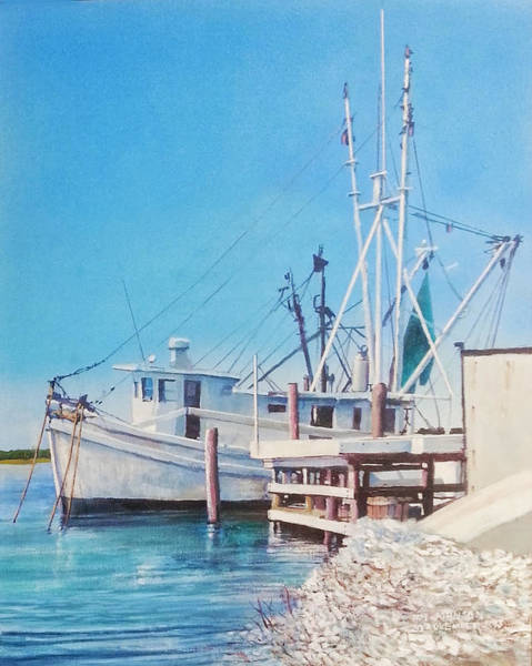 Painting - South Carolina Oysters by Tim Johnson