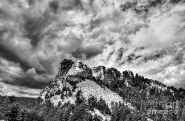 Photograph - South Dakota Rocks Bw by Mel Steinhauer