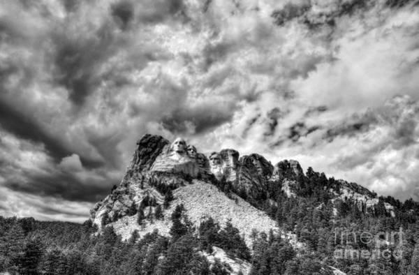 Photograph - South Dakota Rocks Bw by Mel Steinhauer