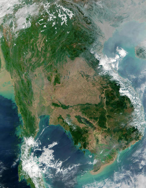 Cambodia Photograph - South-east Asia by Nasa/science Photo Library