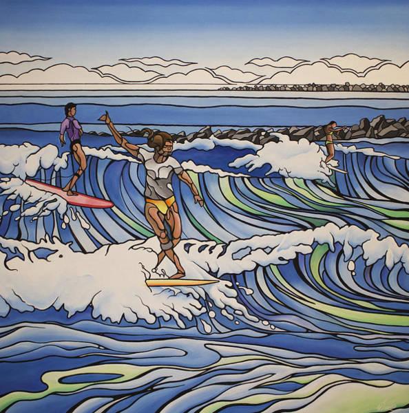 South End Wahines Art Print