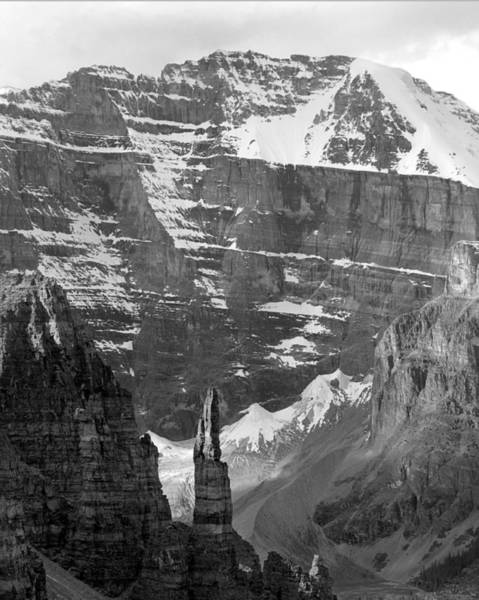 Photograph - 1m3436-bw-south Face Mt. Lefroy  by Ed  Cooper Photography