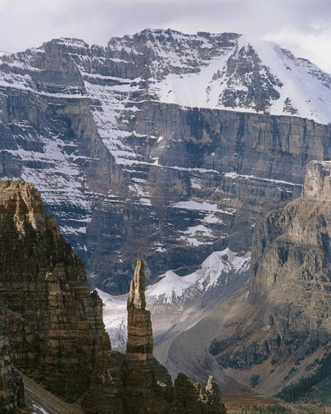 Photograph - 1m3436-south Face Of Mt. Lefroy And Grand Sentinel by Ed  Cooper Photography