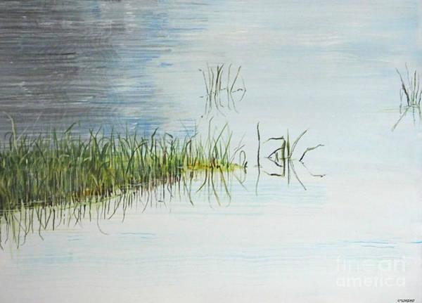 Painting - South Farm Morning Pond Louisiana by Lizi Beard-Ward
