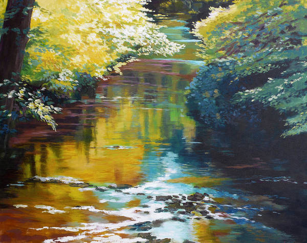 Waterway Painting - South Fork Silver Creek No. 3 by Melody Cleary