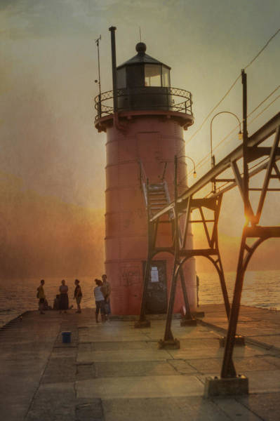 Photograph - South Haven Michigan Lighthouse by Evie Carrier