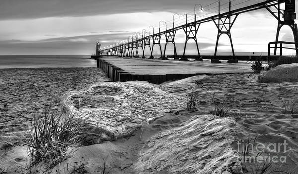 South Haven Wall Art - Photograph - South Haven Pier And Lighthouse by Twenty Two North Photography