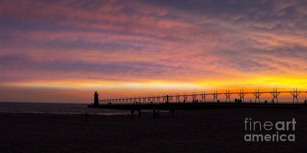 Haven Photograph - South Haven Sunset by Twenty Two North Photography