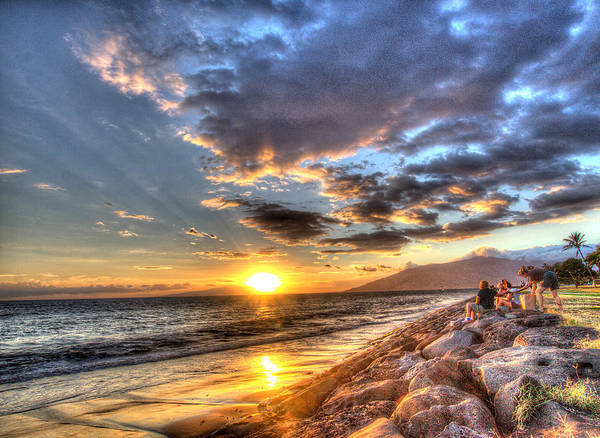 Photograph - South Kihei Sunset by John King