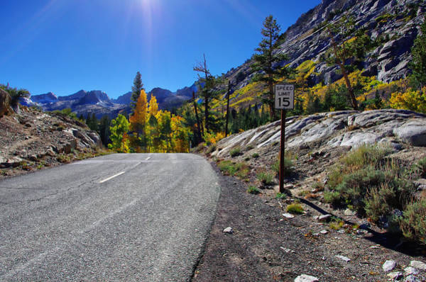 Inyo Mountains Photograph - South Lake Road In Fall by Scott McGuire