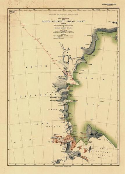 Physical Geography Photograph - South Magnetic Polar Party by Library Of Congress, Geography And Map Division