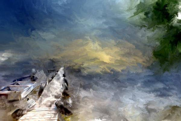Photograph - South Manistique Lake Curtis Mi by Evie Carrier