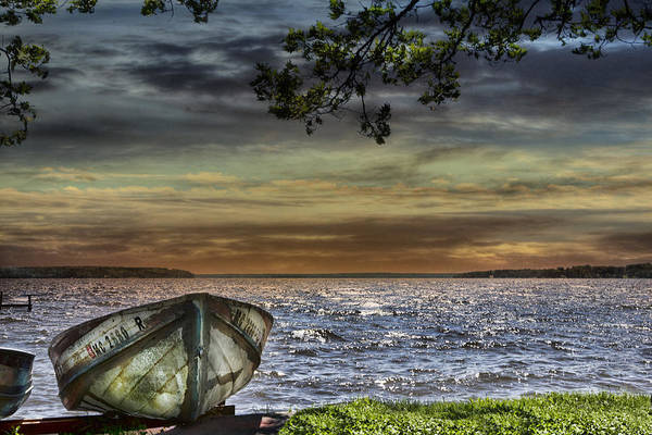 Evie Photograph - South Manistique Lake With Rowboat by Evie Carrier
