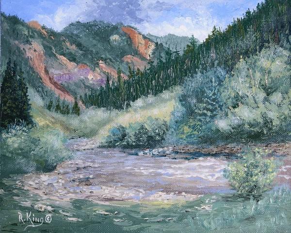Wall Art - Painting - South Mineral Creek En Plein Air by Roena King