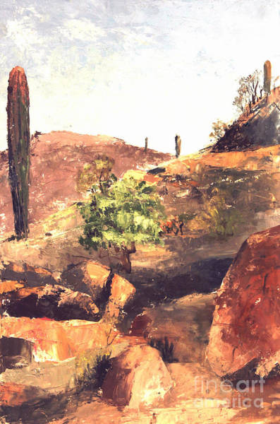 Painting - South Mountain Park Phoenix  by Art By Tolpo Collection