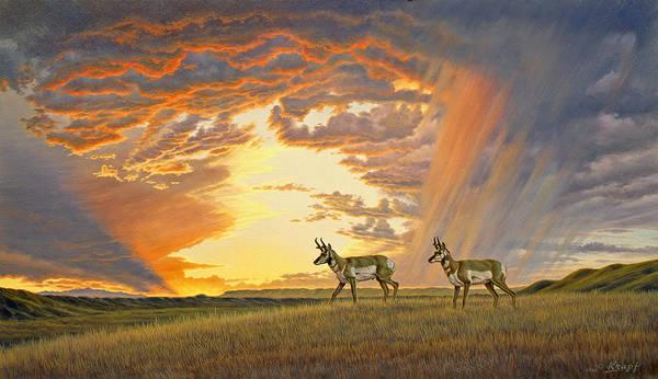 Prairie Painting - South Of Lander by Paul Krapf