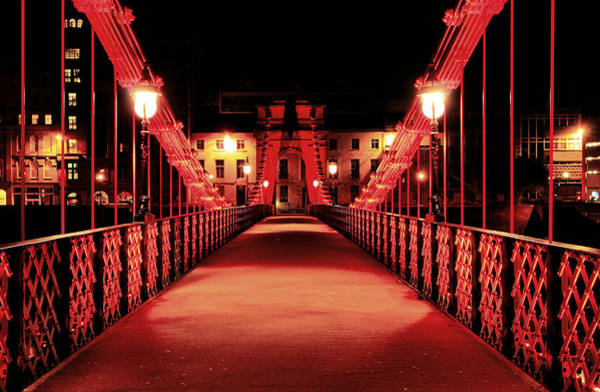 Photograph - South Portland Street Suspension Bridge by Grant Glendinning