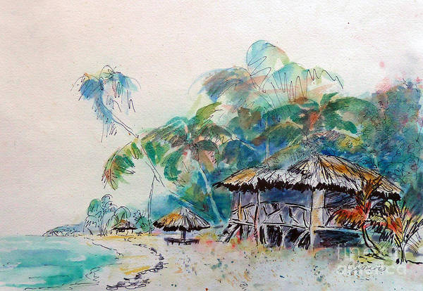 Painting - South Sea Home by Carolyn Jarvis