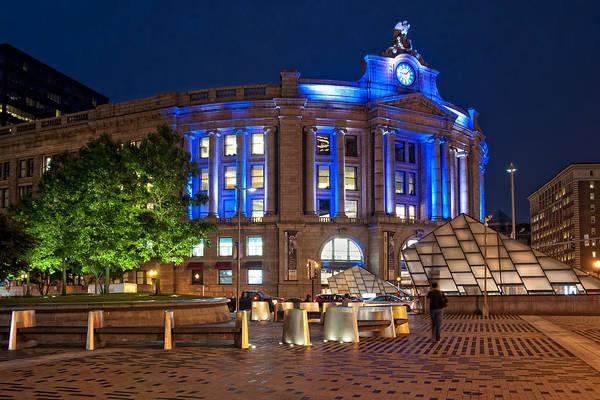 Photograph - South Station In Blue - Boston by Joann Vitali