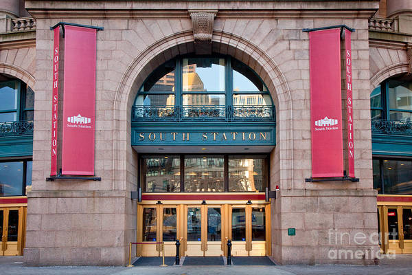 Photograph - South Station Main Entrance by Susan Cole Kelly