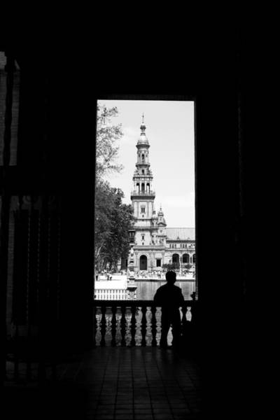 Photograph - South Tower Silhouetted by Lorraine Devon Wilke