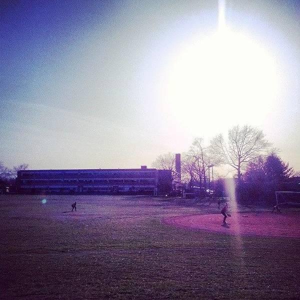 #south #vschsd #sky #sun #softball Art Print