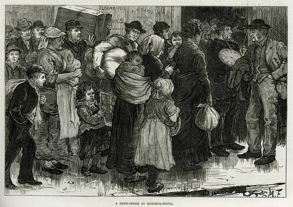 New South Wales Drawing - South Wales Miners' Families  Pawning by  Illustrated London News Ltd/Mar