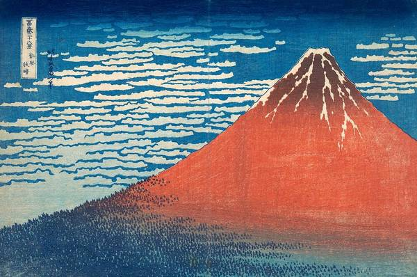 Hokusai Wave Wall Art - Painting - South Wind Clear Sky by Katsushika Hokusai