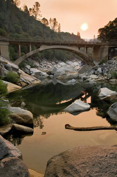 Yuba River Photograph - South Yuba River Bridge And Smoky by Josh Miller Photography