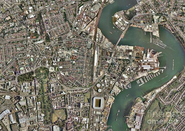 Road Map Photograph - Southampton, Aerial Photograph by Getmapping Plc
