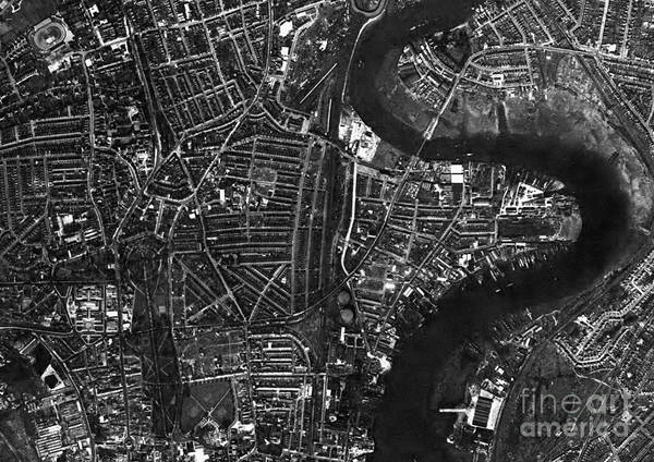 Road Map Photograph - Southampton, Historical Aerial Photograph by Getmapping Plc