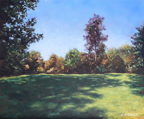 Wall Art - Painting - Southampton Palmerston Park Autumn Sun by Martin Davey