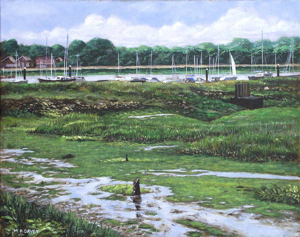 Wall Art - Painting - Southampton River Hamble by Martin Davey