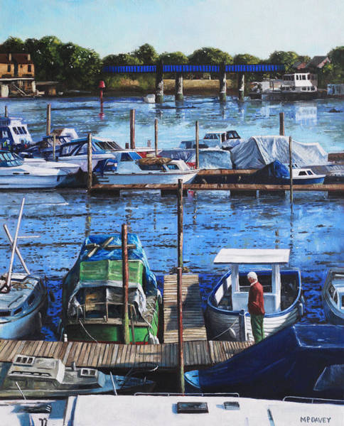 Wall Art - Painting - Southampton River Itchen From Cobden Bridge by Martin Davey