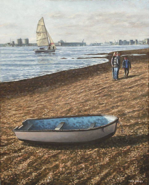 Wall Art - Painting - Southampton Weston Shore by Martin Davey
