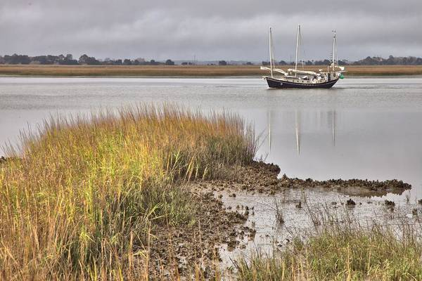 Photograph - Southbound On The Intracoastal Waterway by Gordon Elwell