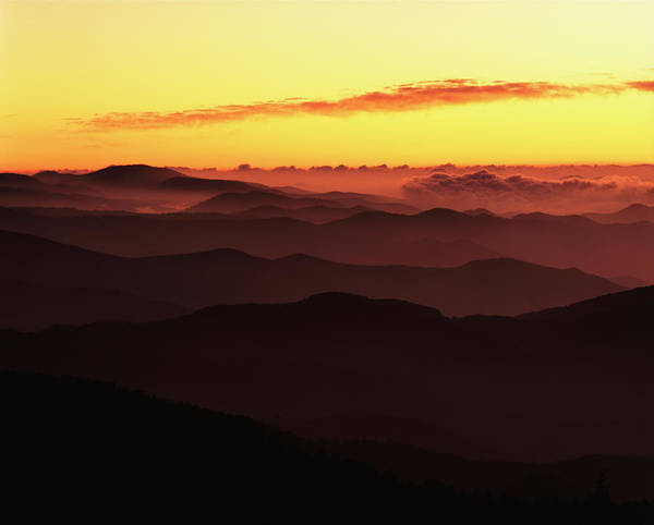 Southern Usa Photograph - Southern Appalachian Ridges At Dawn by Danita Delimont