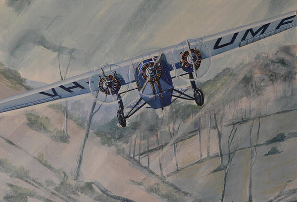 Painting - Southern Cloud Vh-umf by Murray McLeod