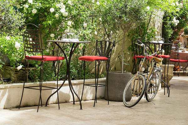 Outdoor Cafe Photograph - Southern France, St by Emily Wilson