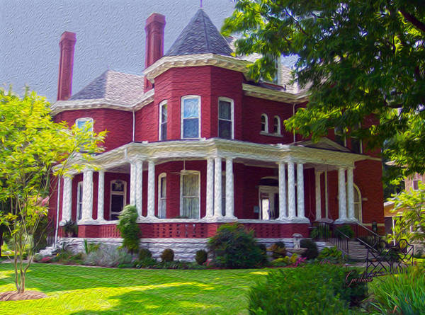 Mansion Mixed Media - Southern Hospitality by Garland Johnson
