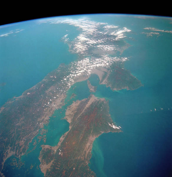 Endeavour Photograph - Southern Japan by Nasa/science Photo Library