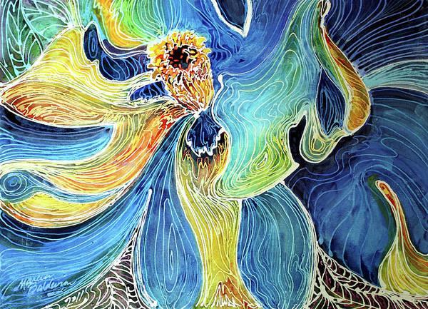 Painting - Southern Magnolia Batik Abstract by Marcia Baldwin