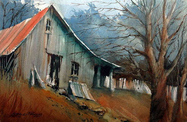 Painting - Southern Ohio Farm Yard by Charles Rowland