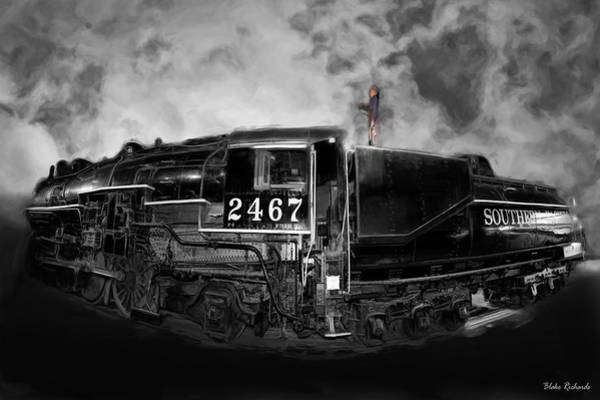 Photograph - Southern Pacific 2467 Steam Engine 1921 by Blake Richards