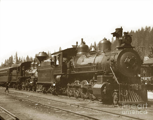Photograph - Southern Pacific Steam Locomotives No. 2847 2-8-0 1901 by California Views Archives Mr Pat Hathaway Archives